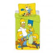 Lenjerie de pat copii Jerry Fabrics Simpsons Green 02, din bumbac,140 x 200 cm, 70 x 90 cm