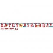 Party banner Happy Birthday party Pirati