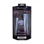Real Techniques Brush Crush Volume 2 Buff, Blend + Spotlight confezione regalo pennello per polveri viso 1 pz + spugnette 1 pz + pennello occhi 1 pz + pennello da sfumatura 1 pz