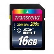 Card Transcend SDHC 16GB Clasa 10 200x