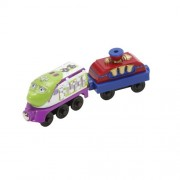 Chuggington Wooden Railway Bubbly Koko with Bubble Car, 2-Pack