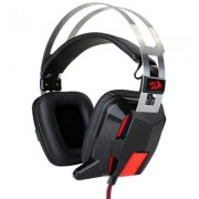 Слушалки redragon lagopasmutus black gaming, led подсветка, черен/червен, h201-bk_vz