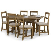 Aspen Rough Sawn Reclaimed Pine Dining Set (With 4 or 6 Chairs) - Dining with 6 Chairs