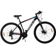 """Bicicleta Omega Thomas, Roti 27.5"""", 21 viteze, Model 2019 (Negru/Portocaliu)"""