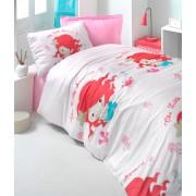 Lenjerie de pat pentru copii Valentini Bianco model Mermaid