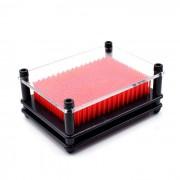 Clasico 3D pin punto de aguja de impresion de escultura de arte bordo del marco de juguetes - rojo