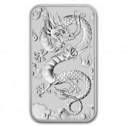 Rectangular Dragon Stříbrná mince 1 AUD Australian Drak obdelník 1 Oz 2019