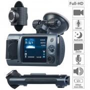 NavGear Full-HD-Dashcam mit 2 Objektiven, 150° Ultra-Weitwinkel, Sony-Sensor