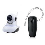 Zemini Wifi CCTV Camera and HM 1100 Bluetooth Headset for LG OPTIMUS L1 II TRI(Wifi CCTV Camera with night vision |HM 1100 Bluetooth Headset With Mic )