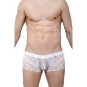Petit-Q Ereac Lace Boxer Brief Underwear White PQ180101