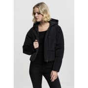 Ladies Hooded Oversized Puffer Jacket black XS