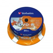 Verbatim DVD-R 16x Super AZO+ Photo-Printable, 25er-Spindel
