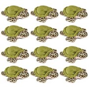 Wildlife Tree 3.5 Sea Turtle Mini Small Stuffed Animals Bulk Bundle of Ocean Animal Toys Or Party Favors for Kids Pack 12