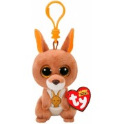 Jucarie plus cu breloc 8.5 cm Beanie Boos KIPPER - brown kangaroo TY