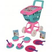 Carucior cumparaturi Ucar Toys cu capac, 17 piese bucatarie, 47 cm