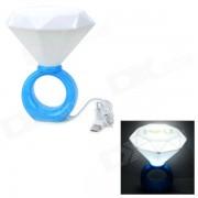 Regalo del dia de San Valentin anillo de diamante estilo 5W lampara blanca de luz LED - azul + blanco (5V)