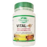 Vital 3 Complex de Omega 3, 6, 9 Organika 1200 mg 60 gelule
