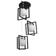 LeArc Designer Lighting Wood Glass Pendent HL3672