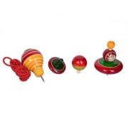 Desi Toys Classic Spinning Tops set of 4 Bhavron ka Pitara