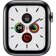 Apple Watch Series 5 (Cel) SOLAMENTE CUERPO, Acero Inoxidable Negro Esp, 44mm, A