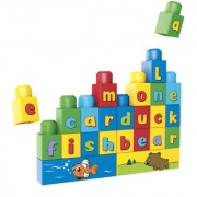 ShopMeFast Super Builders Educational ABC Spell Blocks Set With 60 Pieces Toy For Kids
