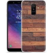 Galaxy A6 Plus 2018 hoesje Houten planken