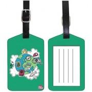Nutcase Designer Luggage Travel Baggage PU Leather Single Tag - WORLD TRAVELS