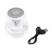 ER Altavoces Bluetooth Inalámbrica LED Apoyo TF Tarjeta De Lectura De Manos Libres USB FM -Blanco