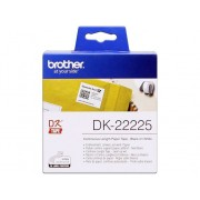 Brother Consumible Original Brother DK22225 Cinta continua de papel térmico (blanca). Ancho: 38 mm. Longitud: 30,48 m para impresoras etiquetas QL