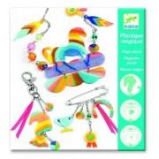 Zestaw kreatywny Magiczna biżuteria TĘCZOWY KOŃ dla dzieci, tworzenie własnej biżuterii DJECO DJ09496