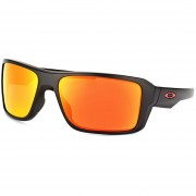 Lentes Oakley Double Edge Matte Black - Prizm Ruby Polarized OO9380-05