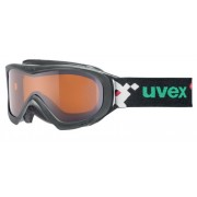 schi ochelari Uvex Wizzard DL, alb pacman dublu lentile / lasergold (1022)
