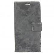 LG K8 (2017) Retro Wallet Case - Grey