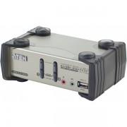 Aten kvm 2 ports usb + audio avec 2 ports hub et osd