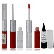 Glam21 2in1 Longlasting Waterproof Red Lip Gloss Pack of 1 Free Kajal-02