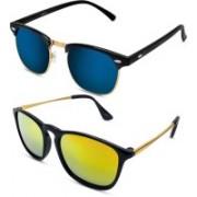 S Jari Clubmaster Sunglasses(Multicolor)