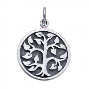 Tree of Life - Zilveren Munt met Gravering