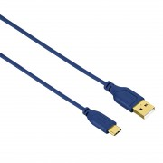 Kabl USB 2.0 na USB-C M/M Flexi pozlaćen plava Hama 135785, 0.75m