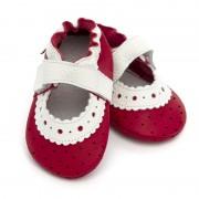 Sandale cu talpa moale Liliputi Red Rose