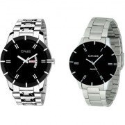 Crude Combo of 2 Stainless steel watch-rg2516 for Couple