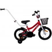 Bicicleta BMX Junior 14 Sun Baby, maner ergonomic, 3 ani+, Rosu
