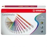 > Astuccio metallo 36 colori matite carboncino CarbOthello Stabilo (unit