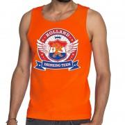 Shoppartners Oranje Holland drinking team rwb tankop / mouwloos shirt heren