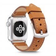 Crazy Horse Genuine Leather Watch Strap for Apple Watch Series 5 4 40mm / Series 3 2 1 38mm - Brown