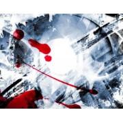 Lizard Fototapeta czerwony, czarny, sztuka, zamknąć, tekstura