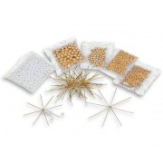 Betzold Drahtsterne-Set Weiss-Gold