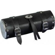 Geanta moto cilindrica negru- crom