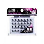 Ardell Double Up Duralash Knot-Free Double Flares trsové nalepovací řasy bez uzlíku 56 ks odstín Long Black pro ženy