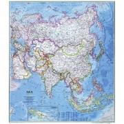 Harta politică a Asiei National Geographic
