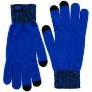 Knitted Gloves – Blue - L/XL - Blauw
